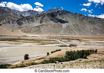Mountain view of Zanskar Valley , Padum, Ladakh, Jammu and...