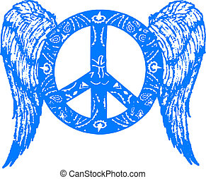 peace with wing symbol