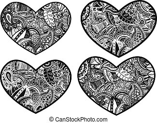 paisley style artistic heart