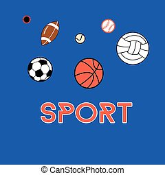 Sports vector background