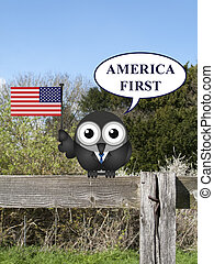America first - Comical America First presidential...