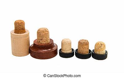 corks for bottles isolated