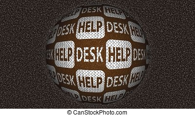 Decorative brown and white video with rotating sphere and...