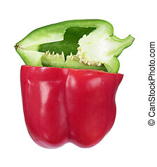 Capsicum on White Background