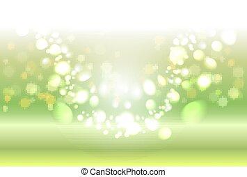 Green shiny sparkles
