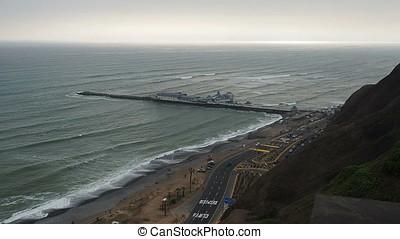 Pier in Lima, Peru