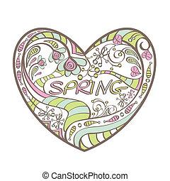 cute spring heart
