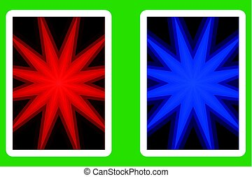 Playing Card Back Designs, star - pattern,