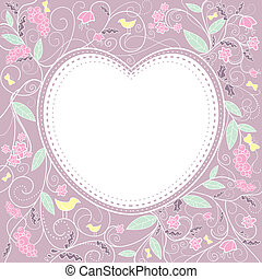 Cute valentine`s day card with free place for your text