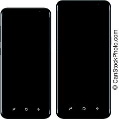 Modern mobile phone two sizes vector eps 10