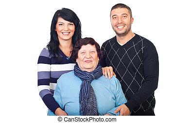 Laughing grandma and her grandchildren - Happy laughing...