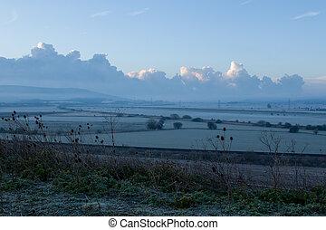 Daybreak Across Ouse Valley - Daybreak looking south down...