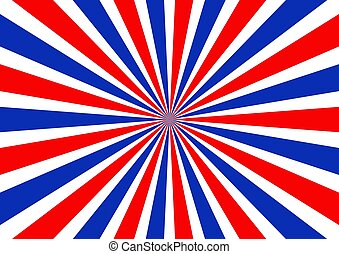 Red white and blue sunbeam background