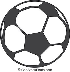 Soccer ball icon in black on a white background. Vector illustration