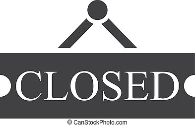 Closed icon in black on a white background. Vector...