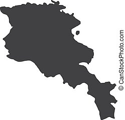 Armenia map in black on a white background. Vector...