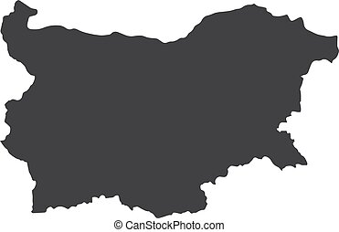 Bulgaria map in black on a white background. Vector...