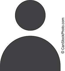 User icon in black on a white background. Vector illustration