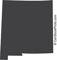 New Mexico state map in black on a white background. Vector...