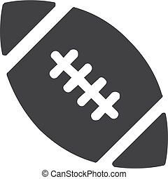 Football icon in black on a white background. Vector illustration