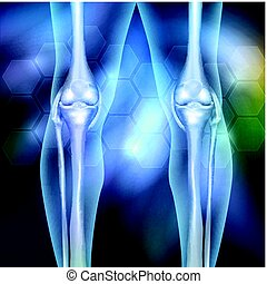 Leg joint anatomy beautiful abstract background