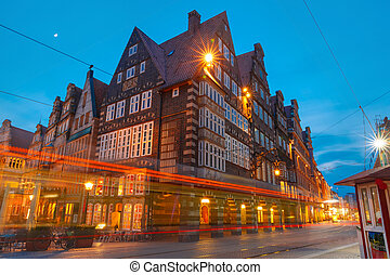 City Hall on Market Square in Bremen, Germany -...