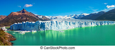 Panorama of glacier Perito Moreno in Patagonia, South...
