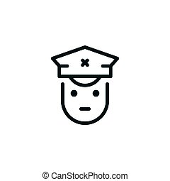 Driver line icon isolated on white. Vector illustration