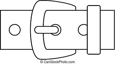 Leather belt icon, outline style - Leather belt icon....