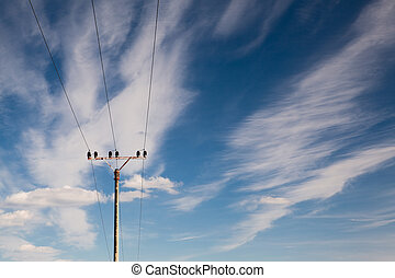 Electrical Energy - Electrical energy and blue sky