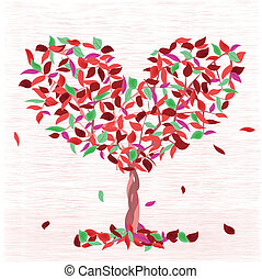 tree of love - Illustration of a tree of love in the form of...
