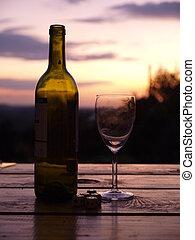 Good wine makes a beautiful sunset