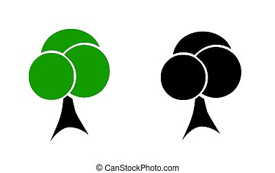 two trees vector - ecology concept