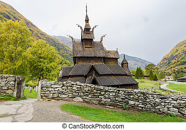 Borgund Stave church. Norway