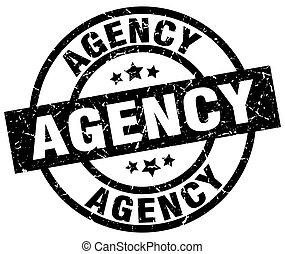 agency round grunge black stamp