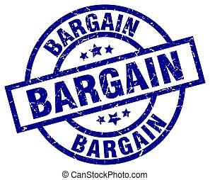 bargain blue round grunge stamp