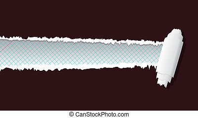 ripped paper - Vector ripped paper in separate layer