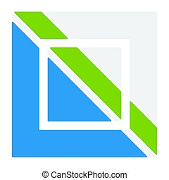 Logo template with interlocking, divided square. Abstract...
