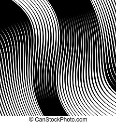 Abstract linear black and white texture. Mesh, array of...