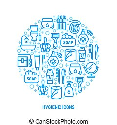 colorful personal hygiene icons