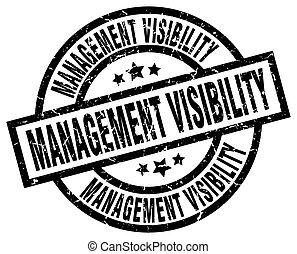 management visibility round grunge black stamp