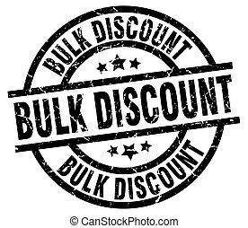 bulk discount round grunge black stamp