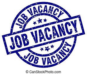 job vacancy blue round grunge stamp