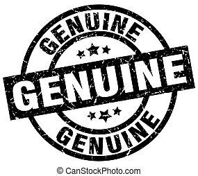 genuine round grunge black stamp
