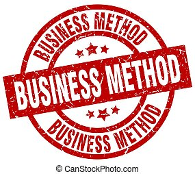 business method round red grunge stamp