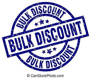 bulk discount blue round grunge stamp