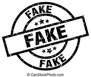 fake round grunge black stamp