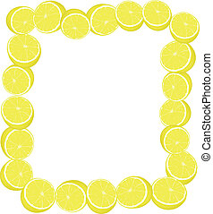 half of lemon - The square form a framework from half of...