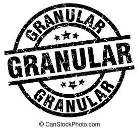 granular round grunge black stamp