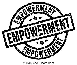 empowerment round grunge black stamp
